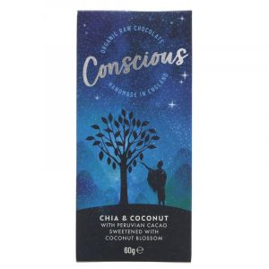 Conscious Chocolate Chia & Coconut (60g) main thumbnail image