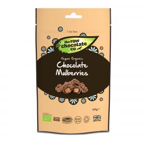 The Raw Chocolate Co - Raw Chocolate Mulberries Pouch (125g) main thumbnail image