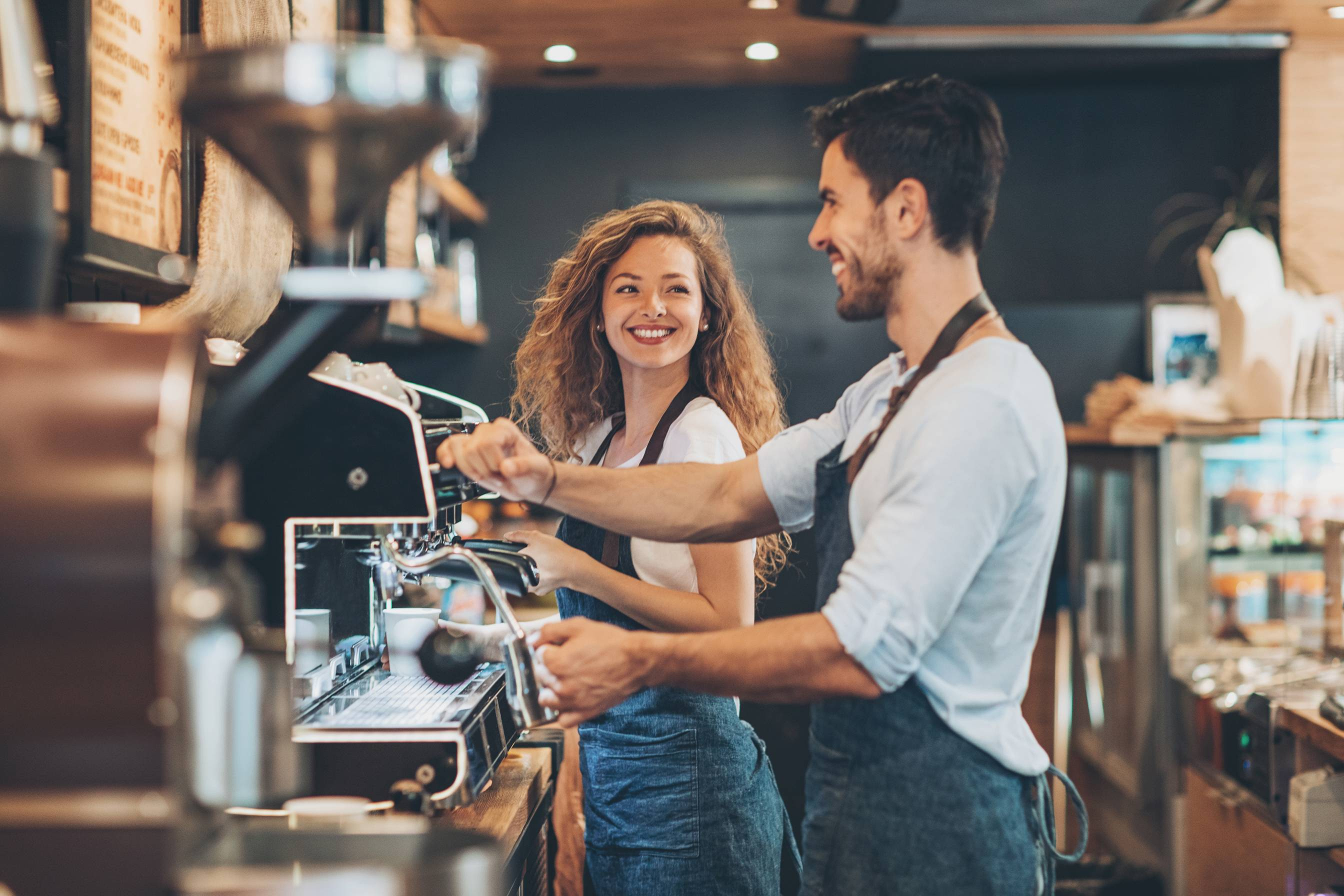 Picture of People making coffee